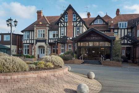 External front of hotel chesford grange